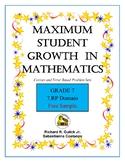 Maximum Student Growth in Mathematics:  7th Grade