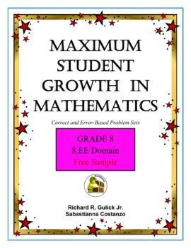 Maximum Student Growth in Mathematics:  Grade 8 Free Sample
