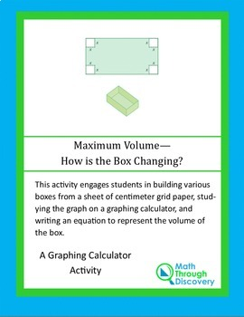 Geometry:  Maximum Volume - How is the Box Changing?