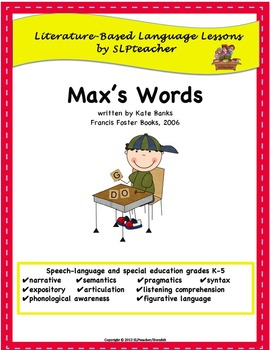 Max's Words:  Literature-Based Language Lessons