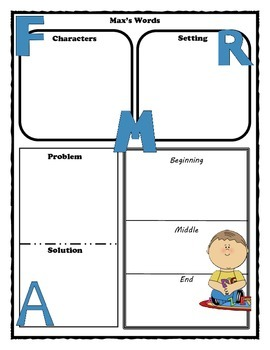 Max's Words Story Map Graphic Organizer