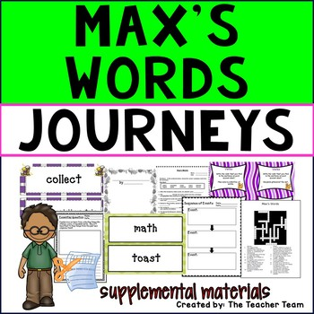 Max's Words Journeys Third Grade Unit 2 Lesson 6 Activities & Printables