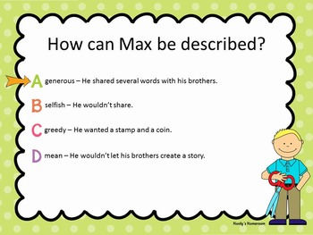 Max's Words - Test Prep Questions