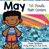 May 1st Grade Math Centers with Task Cards