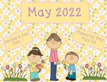 May 2017 Activboard Calendar Activities
