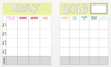 May 2016 Editable Curriculum Planning Calendar