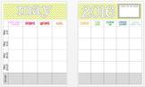 May 2016 Editable Curriculum Planning Calendar
