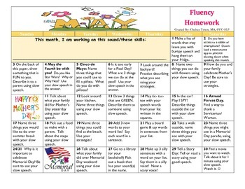 May 2015 Fluency Calendar