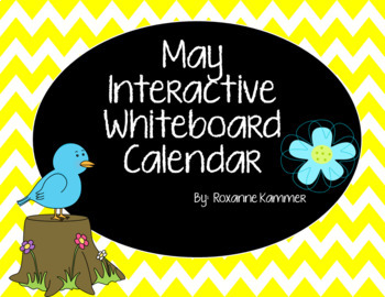 May 2017 Interactive Whiteboard Calendar