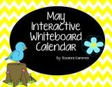 May 2019 Interactive Whiteboard Calendar