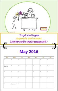 May 2016 ( A 1-Month Inspirational Calendar for Teachers)