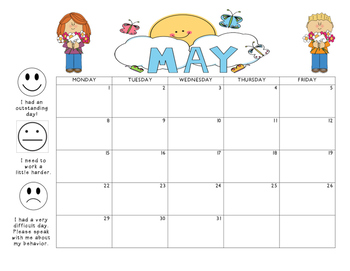 May 2017 Behavior Calendar