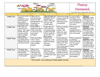 May 2016 Fluency Calendar
