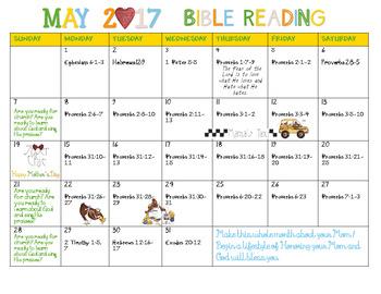 May 2017 Bible Reading Calendar