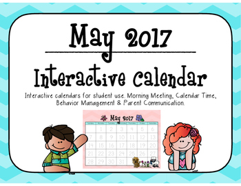May 2017 Interactive Student Calendar by Miss Markley's Market ...