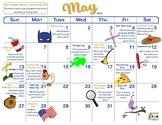 May 2018 DIY Conversation Level Speech Calendar