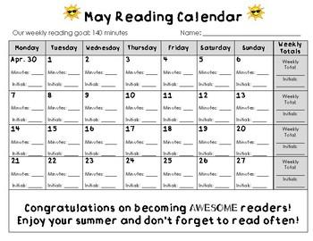 May 2018 Reading Calendar