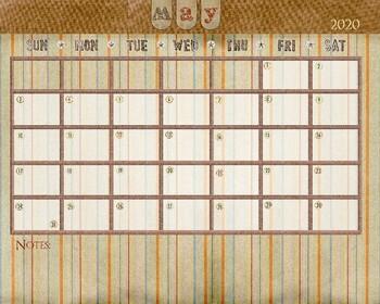 May 2020 Calendar - 8x10