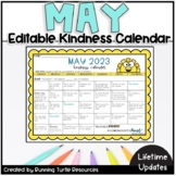 May Kindness Calendar *Editable* (Updated for 2020!)