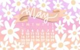 May 2021 Daisy Themed Wallpaper by Taracotta Sunrise