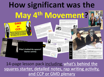 May 4th Movement - 14-page full lesson (starter, notes, writing task, plenary)