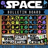 May 4th / Space Bulletin Board Icons and Signs EDITABLE
