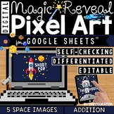 Pixel Art on Google Sheets Magic Pixel Space ADDITION & SUBTRACTION