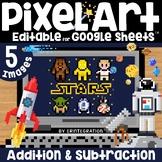 Pixel Art on Google Sheets Magic Pixel Space ADDITION & SU