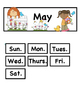 May ABCB Patterned Calendar Cards: Fit Small and Regular Calendars