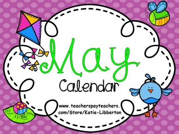 May Kindergarten ActivInspire Calendar