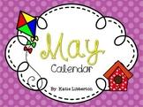 May Kindergarten ActivInspire Calendar