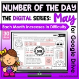 May Activities Number of the Day Worksheets for Google Dri