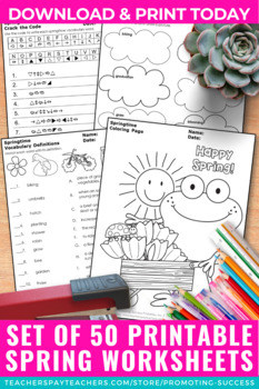 Print and Go May Activities, Early Finishers Worksheet