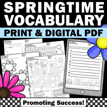 May Writing Activities, May Word Search, May Word Work, Ma