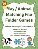 May / Animal Themed Matching File Folder Games (plus bonus