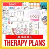 May Articulation & Language Therapy Plans Bundle
