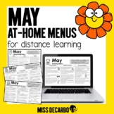May At-Home Learning Menus for Distance Learning