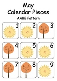 May / Autumn / Fall Calendar Pieces for Numeracy Wall and
