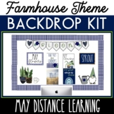 May Backdrop Kit Distance Learning Backdrop  Summer or Spr