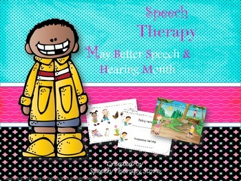 Speech Therapy May Better Speech & Hearing Month Language & Articulation Bundle