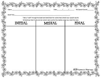 May Book Walk Worksheet