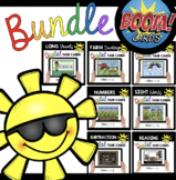 May Boom Card Bundle for Kindergarten - Sight words - phonics - math and MORE!