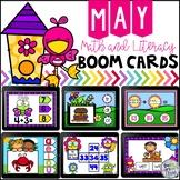 May Digital Boom Cards Math and Literacy