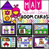 May Digital Boom Cards Math and Literacy Distance Learning