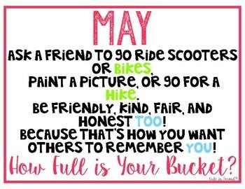 May Bucket Filling Activities