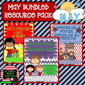 May Bundled Resource Pack (Cinco de Mayo, Mother's Day, and Memorial Day)