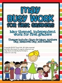May Busy Work Pack for First Graders