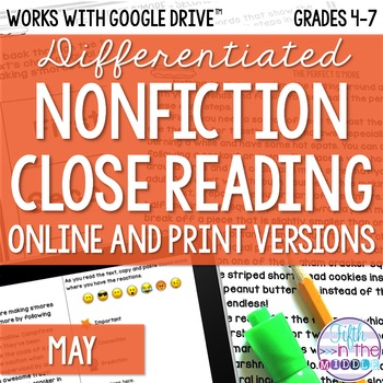 May COMBO Differentiated Nonfiction Close Reading Texts and Questions