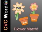 May CVC Word Work - Spring Flower Pot Match