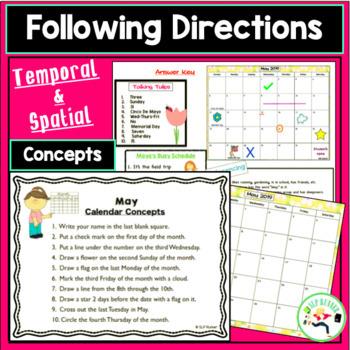 May Calendar Activities - Language